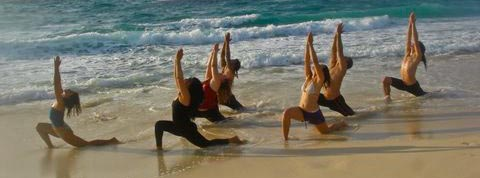 Yoga at the beach since 2002 / students of COZUMEL YOGA CENTER SHAKTIOM / www.yogacozumel.com