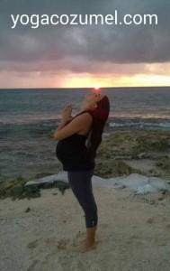PRENATAL YOGA IN COZUMEL MEXICO. / info@yogacozumel.com  / whtasapp: +52 1 9871113632