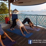 YOGA at the BEACH with SWAMINI MA SHAKTIANANDA in COZUMEL ISLAND // we offer many diferent methods, styles and techniques of yoga like: Sports Yoga, Pranayama, Ashtanga, Kundalini, Purna Yoga, Vinyasa  etc. etc / We have something special for your holiday!  DETOX JUICE + A YOGA CLASS (at the beach) = $ 100 pesos in CAFE DEL MARE COZUMEL. If you want to know the kind of you we going to work this week please enter our facebook:COZUMEL YOGA CENTER SHAKTIOM and to SEE THE ADDRESS AND OTHER SITE ACTIVITIES LOOK... facebook: CAFE DEL MARE-COZUMEL for any questions..  WHATSAPP: 9871113632 ///  S C H E D U L E    Y O G A   at the  B E A C H : mondays, wednesdays and saturdays 4:45 pm and tuesdays and thursday 9:30 am. /// After class we all met at the bar to share a detoxifying juice and chat. Practice yoga with us.You'll meet nice people from all over the world!