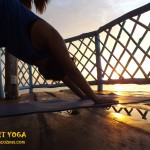 SUNSET YOGA BY THE SEA in COZUMEL MEXICO / photo by: Swamini Ma Shaktiananda