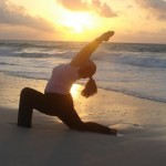 SUNSET YOGA BY THE SEA in COZUMEL MEXICO / photo by: Swamini Ma Shaktiananda